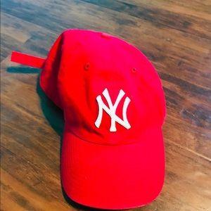 Red 47' New York Yankees Cap